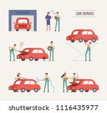 an engineer at the automobile... | Shutterstock .eps vector #1116435977