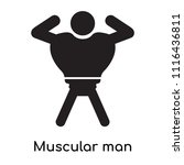 muscular man showing his... | Shutterstock .eps vector #1116436811