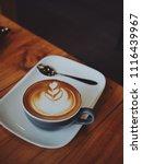 coffee latte art in coffee shop ... | Shutterstock . vector #1116439967