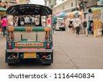 tuk tuk  thai traditional taxi...   Shutterstock . vector #1116440834
