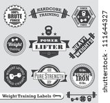 vector set  vintage weight... | Shutterstock .eps vector #111644327