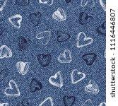 vector denim seamless pattern....   Shutterstock .eps vector #1116446807