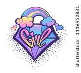 t shirt design for girl....   Shutterstock .eps vector #1116452831