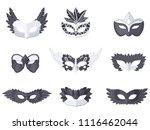 set of nine different carnival... | Shutterstock .eps vector #1116462044