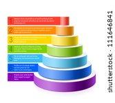 pyramid chart. vector. | Shutterstock .eps vector #111646841