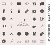 pin on the map icon. detailed... | Shutterstock .eps vector #1116472019