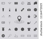 pin in place icon. detailed set ... | Shutterstock .eps vector #1116472025
