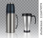 thermos thermo cup travel mug... | Shutterstock .eps vector #1116474974