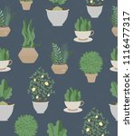 lovely seamless pattern in the... | Shutterstock .eps vector #1116477317