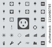 electric outlet icon. detailed... | Shutterstock .eps vector #1116480785