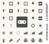 electric outlet icon. detailed... | Shutterstock .eps vector #1116480869