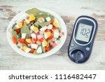 glucose meter for checking... | Shutterstock . vector #1116482447