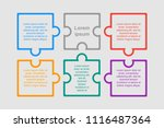 puzzle six pieces business... | Shutterstock .eps vector #1116487364