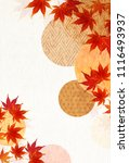 autumn leaves fall japanese... | Shutterstock .eps vector #1116493937
