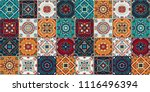 talavera pattern.  indian... | Shutterstock .eps vector #1116496394