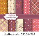 set of abstract vector paper... | Shutterstock .eps vector #111649964