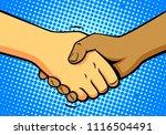 comics shake hands  vector | Shutterstock .eps vector #1116504491