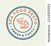 seafood shrimp for restaurant...   Shutterstock .eps vector #1116505331