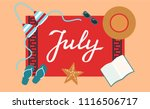 hand drawn july typography... | Shutterstock .eps vector #1116506717