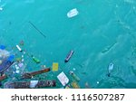 pollution from rubbish waste in ... | Shutterstock . vector #1116507287