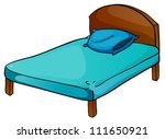 illustration of bed and pillow... | Shutterstock .eps vector #111650921