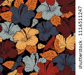 stylish wallpaper with hibiscus ... | Shutterstock .eps vector #1116511247