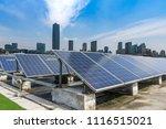 solar and modern city skyline | Shutterstock . vector #1116515021