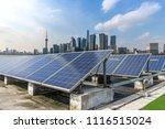 solar and modern city skyline | Shutterstock . vector #1116515024