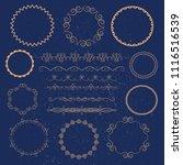 vector set of calligraphic... | Shutterstock .eps vector #1116516539