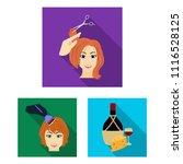 manipulation by hands flat... | Shutterstock .eps vector #1116528125