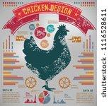 chicken info graphic vector... | Shutterstock .eps vector #1116528611