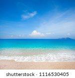 beach and beautiful tropical sea | Shutterstock . vector #1116530405