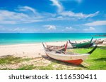 beach and fishing boat  koh... | Shutterstock . vector #1116530411