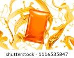 Blank Orange Foil Bag With...