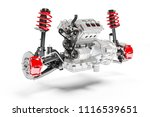3d car chassis with moto  brake ...   Shutterstock . vector #1116539651