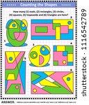 iq training educational math... | Shutterstock .eps vector #1116542789