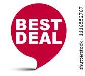 red vector bubble banner best... | Shutterstock .eps vector #1116552767