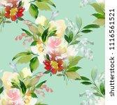 seamless watercolor pattern... | Shutterstock . vector #1116561521