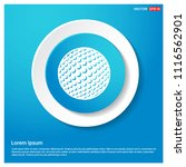 golf ball icon abstract blue... | Shutterstock .eps vector #1116562901