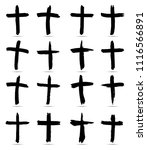 grunge religion cross . black... | Shutterstock .eps vector #1116566891