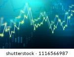 creative glowing forex chart... | Shutterstock . vector #1116566987