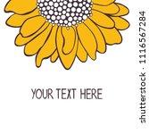 sunflower. your text here.... | Shutterstock .eps vector #1116567284