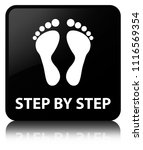 step by step  footprint icon ... | Shutterstock . vector #1116569354