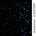falling random letters ... | Shutterstock .eps vector #1116573287
