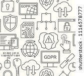 gdpr   general data protection... | Shutterstock . vector #1116578777