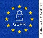 gdpr   general data protection... | Shutterstock . vector #1116580121