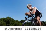 triathlete on the bicycle | Shutterstock . vector #111658199
