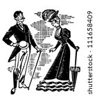 Victorian Couple Courting  ...