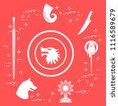 symbols of the popular fantasy...   Shutterstock .eps vector #1116589679