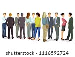 athering of a group of people... | Shutterstock .eps vector #1116592724